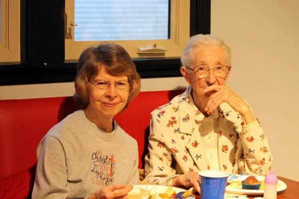 Dianne Murphree and Patsy Woodring