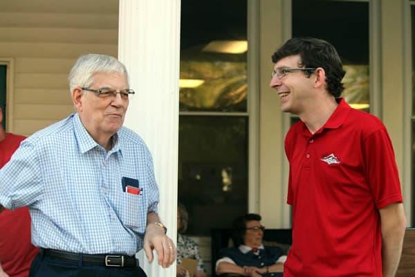 Dr. Herb Wetherbe and John Sisler